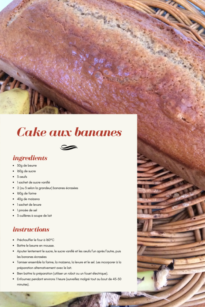 Cake aux bananes