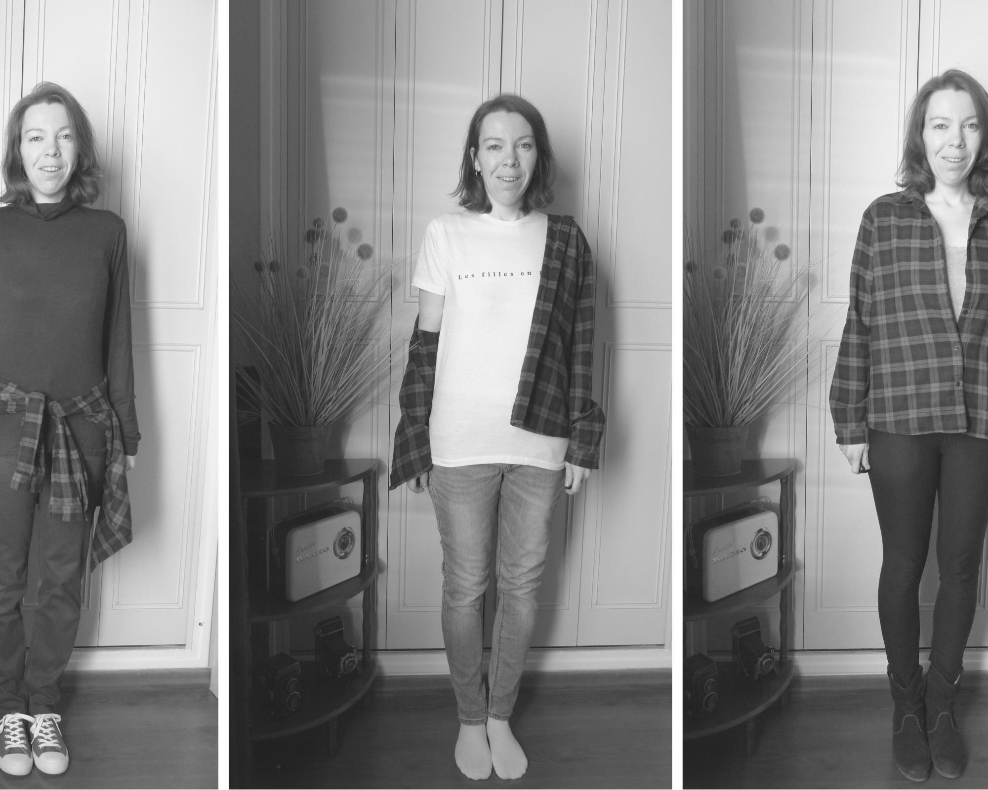 4 manières de porter un chemisier à carreaux