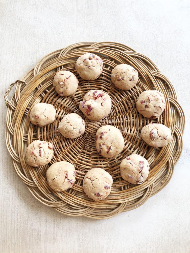 Cookies aux cerises confites