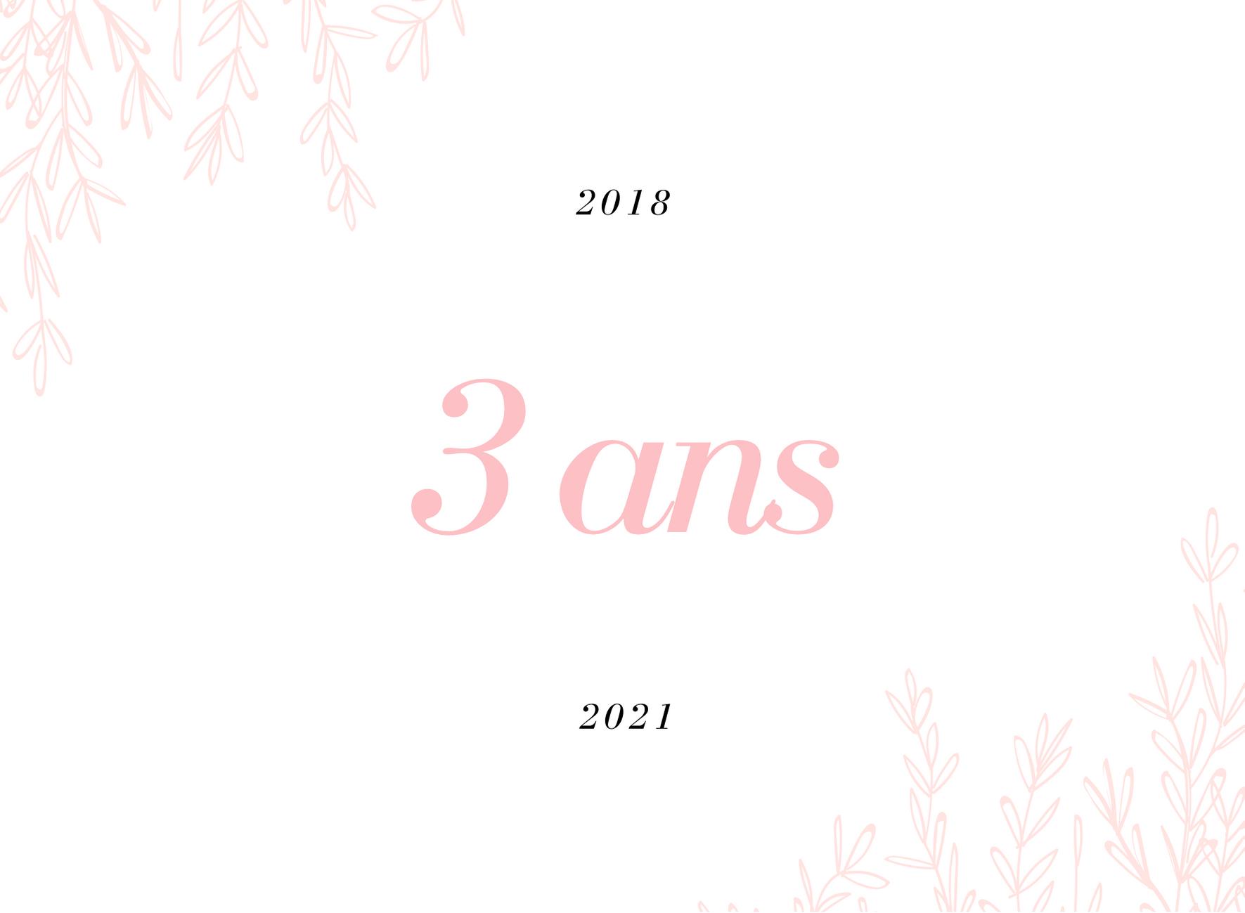 3 ans de blogging